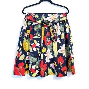 Brooks Brothers | Pineapple Hawaiian Floral Skirt